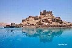 Taba Tours Packages; Saladdin Castle on Pharoah Island in Taba, Egypt.  #Egypt #Sinai #Tours #Trips #Excursions #Taba