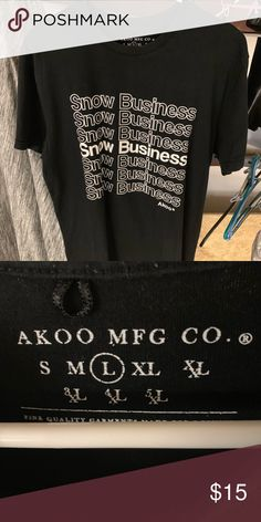 buy cheap a1600 400f8 AKOO Snow Business T shirt AKOO Snow Business T shirt. Akoo Shirts Snow,  Business