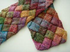 Entrelac conceptos básicos de diseño de tejer con patrón bufanda libre (video)