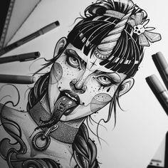 Dark Art Drawings, Cool Drawings, Drawing Sketches, Sketch Tattoo Design, Dark Tattoo, Desenho Tattoo, Sketch Inspiration, Horror Art, Art Sketchbook