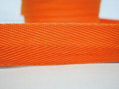 5 yards Orange Wide  Herringbone Tape 3/4 Orange by ichimylove
