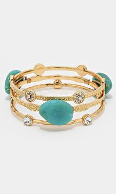 Crystal Tennessee Bracelet in Gold