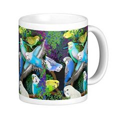 セキセイインコのマグカップ:フォトマグ(世界の野生動物シリーズ) [並行輸入品] 熱帯スタジオ…