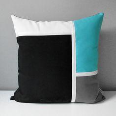 Decorative Pillow Cover Modern Color Block Pillow Case