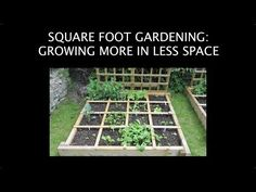 Square Foot Gardening: Growing More in Less Space. What if you could grow a bounty of fresh vegetables for your family's dinning pleasure this summer? If you don't have the yard space for a good size garden, nor the time to weed and care for a larger garden, you can get it done with a square foot garden. Click thru for a video tutorial and a free square foot garden plan. #squarefootgardens