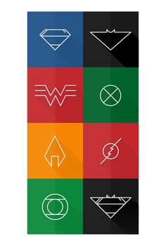 Justice League Minimalist Posters on Behance