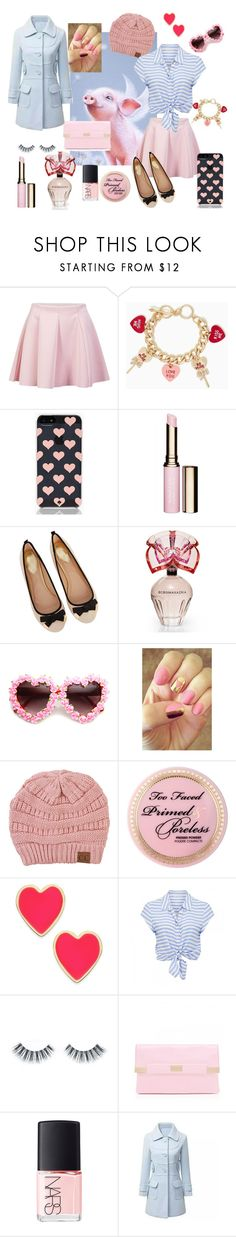 """Piglet Wishes"" by pixikiss ❤ liked on Polyvore featuring ONLY, Kate Spade, Clarins, Oasis, BCBGMAXAZRIA, Rad Nails, Akira Black Label, Too Faced Cosmetics, Forever New and Napoleon Perdis"