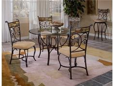 Shop for Hillsdale Furniture Pompei Metal Dining Table Base, 4442-810, and other Dining Room Dining Tables at Andreas Furniture Company in Sugar Creek, OH. Our unique Pompei Dining group features an intricate and interesting solid slate design in the chair and around the table edge. A graceful scrolled silhouette draws your eye to the lovely and colorful motif.