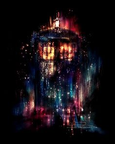 Stunning Illustrations by Alice X. Zhang - I think it's the tardis. hope it's the tardis as it's amazing! The Tardis, Doctor Who Tardis, Doctor Who Art, Tardis Art, Eleventh Doctor, Tardis Door, Tardis Blue, Doctor Strange, Sherlock