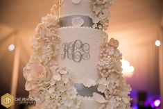 Julie Deffense Artistry — You light up my life Tall Cakes, Hand Pipes, Dream Cake, Party Hairstyles, Monogram Wedding, Piece Of Cakes, Sugar Flowers, Wedding Cakes, Wedding Day