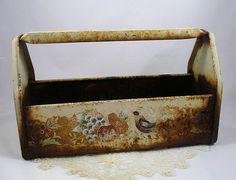 Vintage Metal Tool Box/Garden Caddy Tote by Vintagealacarteshop, $25.00