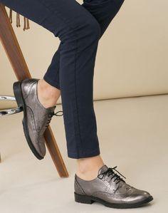 1.2.3 Paris - Les accessoires automne-hiver 2016 - #Derbies argentées vernies Ulrik 99€ #123paris #mode #fashion #shopping #accessoire #accessories #silver #leather #cuir #shoes #chaussure
