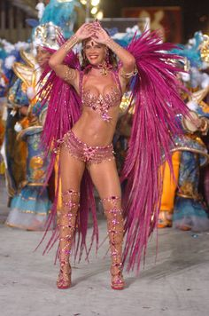 During Rio de Janeiro's Carnival.