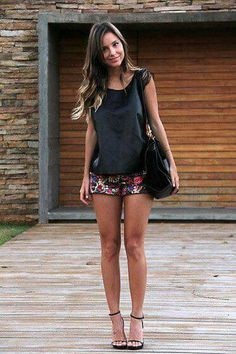 Discover this look wearing Juicy Couture Shorts, Celine Bags, Zara Tops, Louboutin Heels - Short Shorts by LuisaAccorsi styled for Trendy, Clubbing in the Spring Short Outfits, Chic Outfits, Spring Outfits, Fashion Outfits, Womens Fashion, Fashion Trends, Grunge Outfits, Zara Tops, Juicy Couture