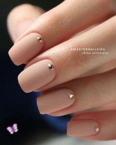 Nageldesign - Nail Art - Nagellack - Nail Polish - Nailart - Nails 15 Not boring nude nails ideas to Simple Wedding Nails, Wedding Nails Design, Nail Wedding, Classy Simple Nails, Wedding Nails For Bride, Nude Nails, Gel Nails, Nail Polish, Matte Nails