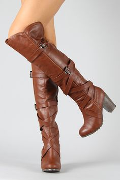 Just bought these great boots for fall! Can-6 Strappy Criss Cross Thigh High Boot