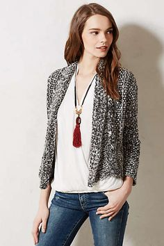 Woodhouse cardigan. I like the texture and structure.