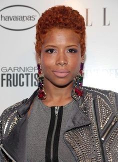 African American short red hair