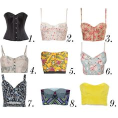 Cropped corset tops. Love!