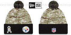 Steelers '2015 SALUTE-TO-SERVICE' Knit Beanie Hat by New Era ...