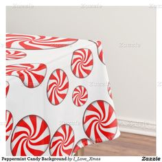 #Peppermint Candy Background Tablecloth by #I_Love_Xmas #Zazzle #ChristmasTablecloth #Gravityx9 -