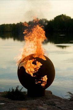 Sculptural Outdoor Fire Pit