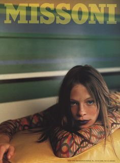 Missoni fall 1997 - Tanga Moreau photographed by Mario Testino