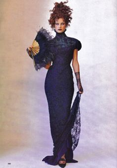 Carolyn Murphy by Mario Testino, Vogue US December 1997.  Christian Dior Fall Winter 1997 Haute Couture