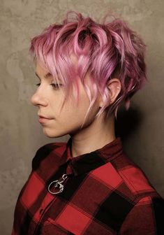 Look at here the most amazing trends of short curly pixie pink haircuts for women in 2018. Pink is one of the stylish and gorgeous hair colors and if you sport it with short haircuts then it always give you stunning and cute look. See here and collect by visiting here a lot of best ideas of pixie haircuts for 2018.
