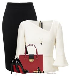 """""""My Power Look"""" by houston555-396 ❤ liked on Polyvore featuring Alexander McQueen, Roland Mouret, David Yurman, Prada, Christian Louboutin, Trina Turk, Alexis Bittar and Movado"""
