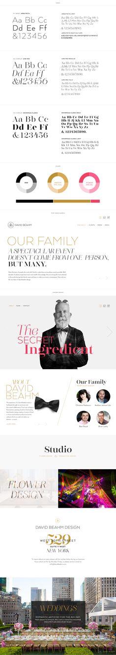 Brand Enhancement for David Beahm Experiences. Web design for main David Beahm Experience site and David Beahm Destinations.  #Floagency #typography #davidbeahm #design #brandidentity #branding #webdevelopment
