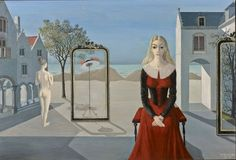 """Art Pics Channel on Twitter: """"Paul Delvaux - The ermitage (1973) https://t.co/0oM35g3nRy"""""""