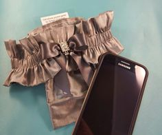 Cell phone pocket garter. Never lose your phone at a party again!