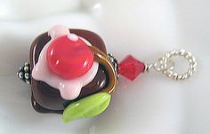 Doesn't this look good enough to eat?!  Please don't...you will end up with one crazy dental bill, LOL!  It may be low on the calories, but it's definitely high on the cute factor!  http://www.artfire.com/ext/shop/studio/StringBeadStudio