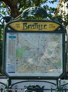 Art Nouveau, Art Deco, Tour Eiffel, Lyon, Hector Guimard, Metro Subway, Paris Metro, U Bahn, Vintage Poster