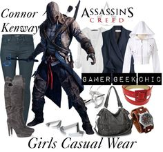"""""""Assassin's Creed - Connor Kenway"""" by gamer-geek-chic ❤ liked on Polyvore"""