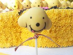 Spot the Dog Children's birthday cake and matching cake pops - Spot the Dog cake pop