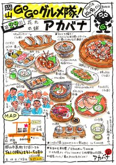 Menu Illustration, Food Illustrations, Food Catalog, Japanese Food Art, Food Map, Food Poster Design, Food Sketch, Food Cartoon, Watercolor Food