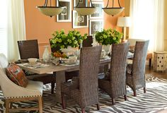 The dining room in The Ellen Dream house designed exclusively with #wayfair items!