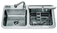 In-sink dishwasher by KitchenAid.