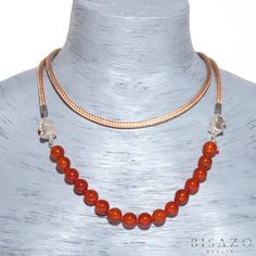Combination 15  €183   1 PURE Carnelian: Minimalist string with 17-19 semi…