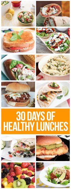 30 FULL days of healthy lunches! You'll love this one.
