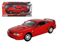 1998 Ford Mustang SVT Cobra Red 1/24 Diecast Car Model by Motormax