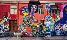 Graffiti street art is abundant in the streets of Valparaíso,