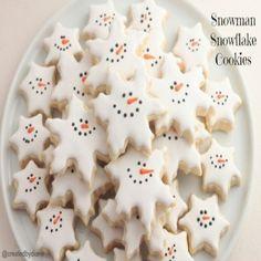Snowman Snowflake Cookie