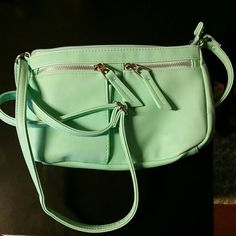 Maurice's crossbody handbag Very pretty green. Plush material. Silver hardware.  NWOT.  Just gorgeous. Maurices Bags Crossbody Bags