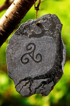 Celtic Spiral & Tree of Life Slate Carving..
