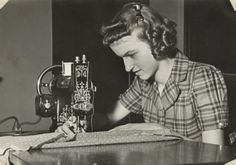 Neighborhood House Scrapbook: Lucy Martinelli Sewing | by Wisconsin Historical Images