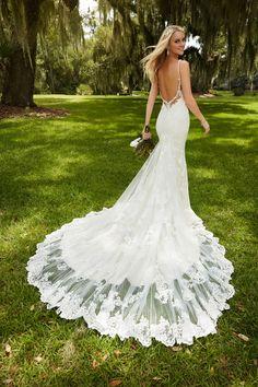 Style 744 by Martina Liana. Wedding dresses with beautiful backs #wedding #dress #back #train