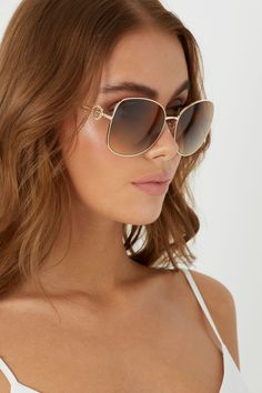 Buy Lipsy Square Metal Glam Sunglasses from the Next UK online shop aa04b6d04b